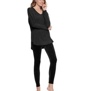 Felina Womens Ultra Luxe Velour 2-Piece Pajama Set